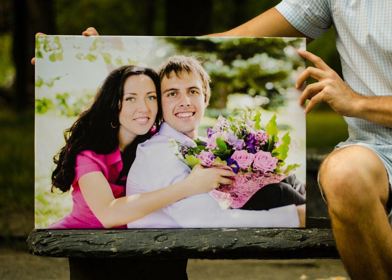 подобрали печать портрета на холсте по фото дешево личному счастью